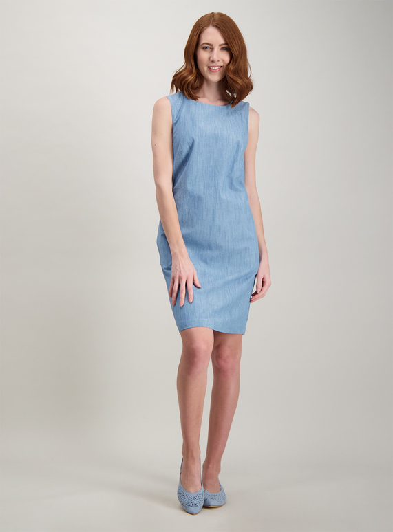df0febbecd69 Womens Online Exclusive Blue Chambray Shift Dress | Tu clothing