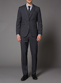 Charcoal Mini Dogtooth Suit Trouser