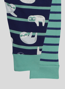 Green Sloth Pyjamas 2 Pack (0-24 months)