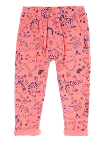 Girls Pink Dino Joggers (9 months-6 years)