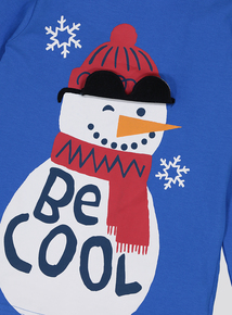 Christmas 'Be Cool' Snowman Top (9 Months - 6 Years)
