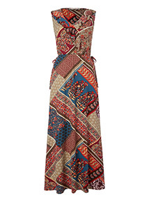 Multicoloured Patchwork Print Dress