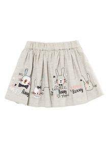 Grey Border Bunny Skirt (9 months-6 years)