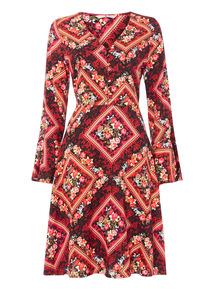 Oriental Print Dress