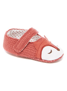 Red Knitted Fox Slipper (0-18 months)
