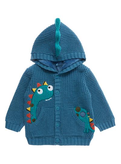 69cb1aed9 Baby Boys Blue Dinosaur Hooded Cardigan (0-24 months)