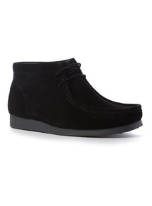 Black Suede Wallaby Shoe
