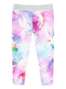 Multicoloured Unicorn Leggings (3-14 years)