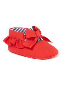 Red Frill Ballet Shoes (0-18 months)