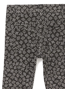 Black Printed Jeggings (9 months-6 years)