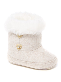 Cream Tweed Boot (0 - 18 months)