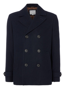 Navy Wadded Peacoat