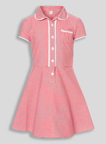 Red Classic Gingham Dress (3-12 years)