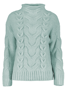Online Exclusive Ice Blue Cable Jumper
