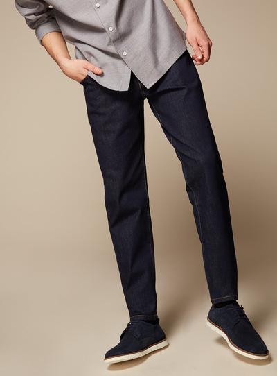 Premium Dark Denim Tapered Jeans