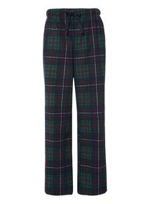Green fleece lounge trouser