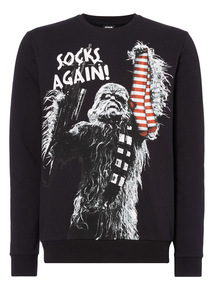 Black Christmas Disney Star Wars Sweat