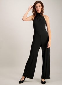 Online Exclusive Black Halterneck Jumpsuit