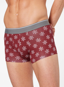 Multicoloured 3 Pack Christmas Snowflake Hipster