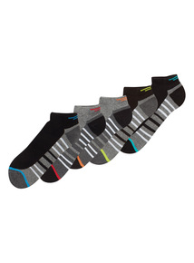 Black Striped Trainer Socks 5 Pack