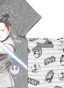 Grey Disney Star Wars Pyjama Set (3-12 years)