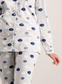 Grey Cloud Long Sleeve Pyjama Set