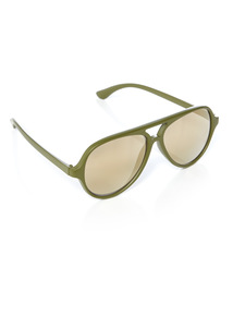 Khaki Gold Lens Sunglasses