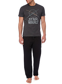 Black Disney Star Wars PJ Set