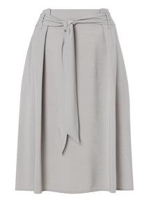 Grey Tie Waist Skirt
