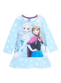 Girls Blue Disney Frozen Fleece Nightie