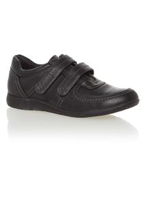 Black Velcro Sole Comfort Strap Shoes