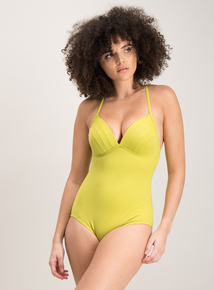 b63e3069a8ce5 Online Exclusive Lime Green Strappy Racerback Swimsuit 25% Off Swimwear