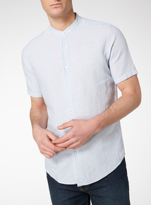 Blue Micro Stripe Linen Shirt
