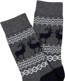 Christmas Multicoloured Reindeer Ankle Socks