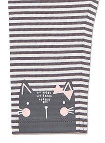 3 Pack Multicoloured Cat Leggings (0-24 months)