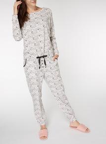 Love Printed Cotton Pyjama Set