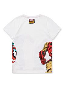 White Disney Marvel Avengers T-Shirt (3-14 years)