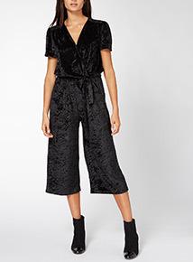 Velvet Tie Side Jumpsuit