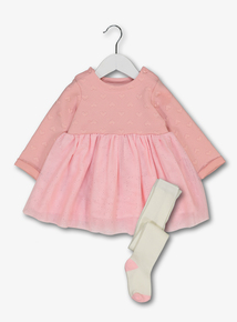 Pink Tutu Dress & Tights Set (0-24 months)