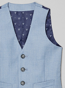 Light Blue Smart Occasion Waistcoat (3-14 years)