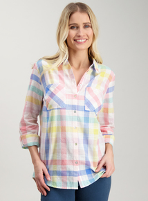 97b6cb29587 Multicoloured Check Cotton Shirt
