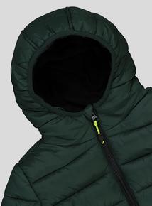 Green Hooded Puffer Coat (3 - 14 years)