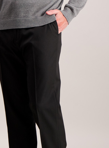 Black Active Waistband Tailored Fit Trousers