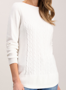 Cream Super Soft Cable Knit Jumper