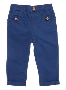 Boys Navy Twill Trousers (0 - 24 months)