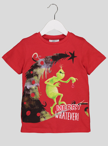 The Grinch Red Christmas Graphic T-Shirt (3-14 years)