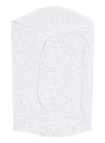 White Unisex Jersey Swaddle