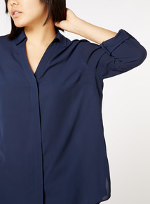 Online Exclusive Roll Sleeve Blouse
