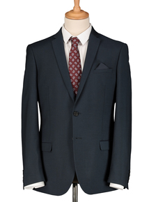 Petrol Blue Slim Fit Suit Jacket
