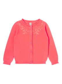 Pink Embroidered Cardigan (3-14 years)